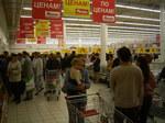 ロシアのスーパーマーケット